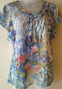 Kaktus short sleeve summer shirt top wmns sz Small